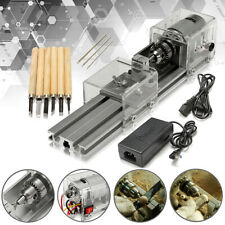 DC 24V Mini Lathe Beads Polisher Machine For Wood Woodworking DIY Rotary Tools