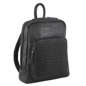 NEW Pierre Cardin Woven Leather Backpack (PC 3348)