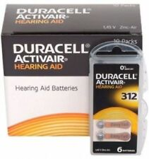 New 6 x  Duracell Activair Hearing Aid Batteries Size 312 Exp 03 2022 Fast Ship