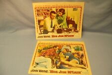 2 John Wayne Ad Lot BIG JIM McLAIN Studio Cards