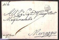 PREFILATELICA - MIL (40) in ottagono - Lettera Milano->Menaggio 16.9.1777