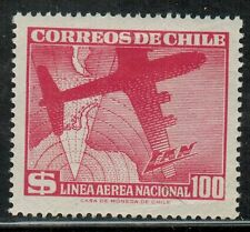 Chile 1959 #604 Linea Aerea Nacional - Plane and Antarctic Map (A151)