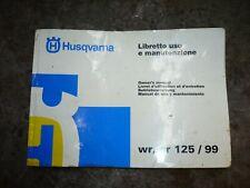 husqvarna husaberg owner s manual wr cr 125 1999 800089946 manuel entretien