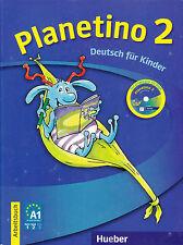 Hueber PLANETINO 2 Arbeitsbuch+CD-ROM DEUTSCH FUR KINDER German for Children NEW