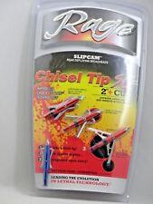 "New 3 Pack Rage Chisel 2 Blade 100Gr 2"" Cut W/Sc Technology - 65100 20X"