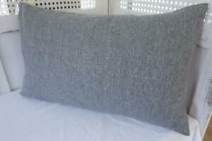 Stone Grey Double Sided Quality Fabric Rectangle Pillow Cushion Cover 30x50cm