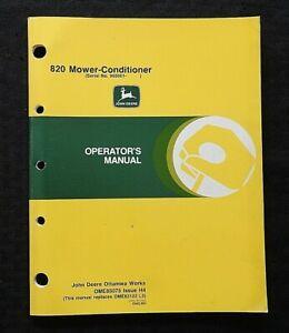 GENUINE JOHN DEERE MODEL 820 MOWER CONDITIONER OPERATORS MANUAL SER #960001 & UP