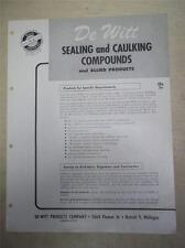 DeWitt Products Co Catalog~Watapruf Asbestos Roof Cement/Coating~1962