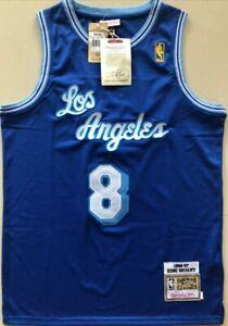 Kobe Bryant Los Angeles Lakers Size XL Royal Blue Throwback Jersey