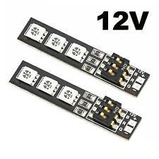 2x RGB 5050 LED Lights Board 7 Color 12V w/DIP Switch for QAV250 F450 Quadcopter