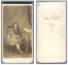 Une fillette nommée Jeanne Robelot Fille de monsieur Alfred  CDV vintage albumen