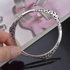 Vintage Tibetan Silver Cuff Bangles Carved Women Bracelets U