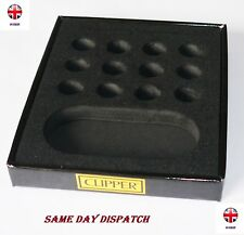 CLIPPER COLLECTOR TRAY DISPLAY HOLDS 12 METAL LIGHTER HOLDER BLACK UK SELLER