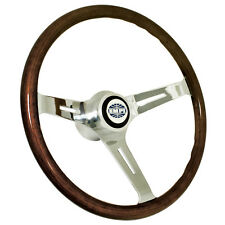 """Empi 79-4022 Classic Vw Bug Steering Wheel With Adapter 15"""" Dark Wood 23mm Grip"""