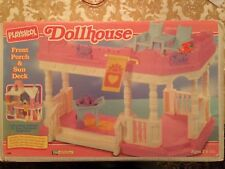 PLAYSKOOL DOLLHOUSE FRONT PORCH AND SUN DECK WITH BOX RARE 1994