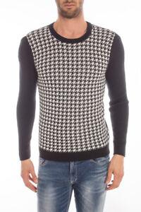 Maglia Daniele Alessandrini Sweater Lana MADE IN ITALY Uomo Nero FM6563405 31