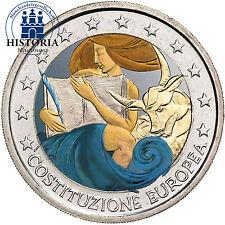 Italien 2 Euro Gedenkmünze 2005 bfr.  Unterzeichnung der Verfassung in Farbe