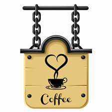 DIY Coffee Cup Decals Removable Vinyl Wall Sticker Kitchen Home Decor Art