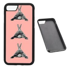 Bunny laying pattern coral RUBBER phone case Fits iPhone