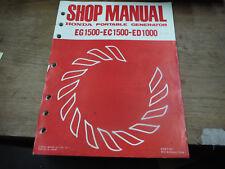 HONDA EG1500 EC1500 ED1000 PORTABLE GENERATOR SHOP SERVICE MANUAL 6287101 BIN9-5