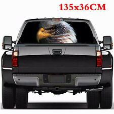 "Car Truck American Flag Bald Eagle Rear Window Graphics Sticker Decals 54""x14"""