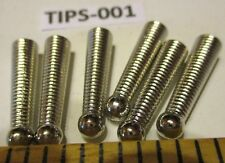 6 piece (3 Pair) SILVER Metal BOLO BOLA TIE Tips FINDINGS Old Store Inventory