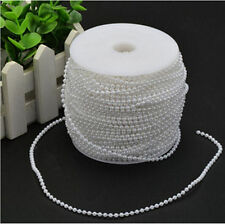 10m in length 3mm Bead Pearl String (White) for Craft , Wedding Decoration