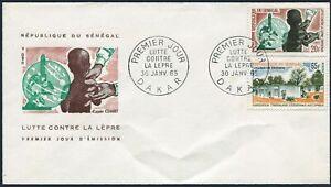Senegal 240-241,FDC.Michel 296-297. Fight against leprosy,1965.Leprosarium,
