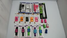Huge wholesale lot Chargers Cell Phone Accessories Usb Charging Cables Ect 61pcs