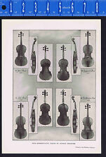 Violins of Antonio Stradivari - 1925 Music History Print