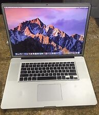 "Apple Macbook Pro 17"" Intel core i7 2.66GHz 4GB RAM 500GB HDD Office 2011 Ilife"