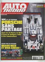 AUTO HEBDO n°2036 du 2/09/2015 : WEC Shanghai Porsche - F1 Mexique - A.Mikkelsen