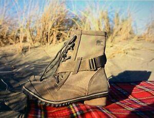 ❤️  NIB New In Box SOREL SLIMBOOT LACE Waterproof Boots SIZE 8 AUTUMN BRONZE