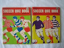 Goodchild's Soccer Quiz Books by G W Burrans July 1971 Numbers 1 & 2.
