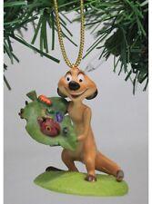 "Authentic Disney Lion King Timon Christmas Holiday Ornament PVC Figure 3"" ~ New"
