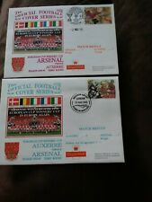 More details for arsenal v auxerre 02/03/95 + 16/03/95 e.c.w.c 1st day covers