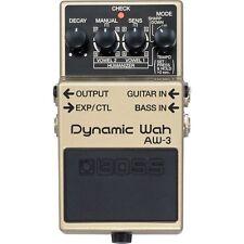 BOSS AW-3 Dynamic Wah Guitar Bass Effects Pedal +Picks