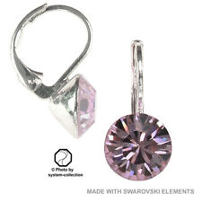 earrings with Swarovski Elements, colour: Amethyst Light