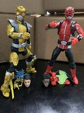 Power Rangers Lightning Collection Beast Morphers Red Gold Loose Complete Lot