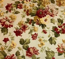 Magnolia Home English Garden Floral Blooms Pink Burgundy Gold Fabric By The Yard