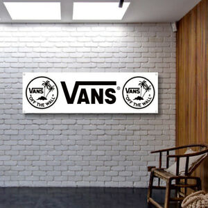 Vans Off The Wall Banner Vinyl / Canvas Workshop Garage Advertising Sign Poster