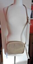 SUMMER & ROSE TAN LASER CUT ADJUSTABLE STRAP SMALL CROSSBODY BAG, NEW WITH TAGS