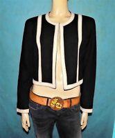 veste MOSCHINO cheap and chic en rayon noir et beige  taille 40 fr tres bon etat