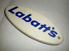 BOTTLE BEER POP OPENER COLLECTIBLE METAL STAMPED & PLASTIC LABATT'S