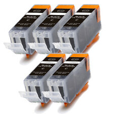5 PK BLACK Ink w/ CHIP for PGI 225 BK Canon Pixma MG5220 MG5320 MG6120 MG6220