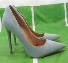 "new ladies Denim Light Blue 4.5""Stiletto High Heel Pointy Toe Sexy Shoes Size 7"