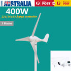 400W Power 3 Blades Wind Turbine Generator Kit 12V / 24V Waterproof White