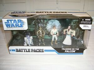 Star Wars 2008 The Legacy Collection Battle Packs TRAINING ON THE FALCON - MISP