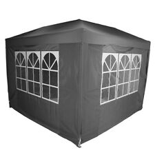 Charles Bentley 3 x 3m Pop Up Gazebo With 4 Sides with Carry Bag - Grey