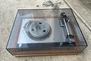 Original Thorens TD160 Turntable with Dust Cover and Shure M55E Cartridge